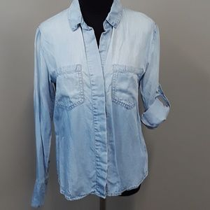 Cloth & Stone Anthropologie chambray button up top